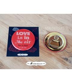 """CHAPAS PARA BODAS """"LOVE IS IN THE AIR"""""""