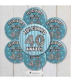 """CHAPAS DE CUMPLEAÑOS """"NÚMEROS"""