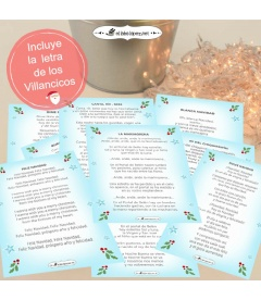 PACK 15 CHAPAS VILLANCICOS NAVIDEÑOS
