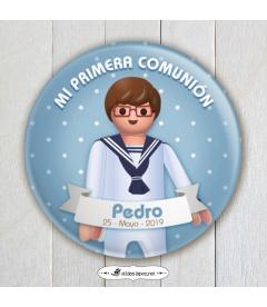 """CHAPA """"COMUNIÓN MARINERO  PLAYMOBIL"""""""