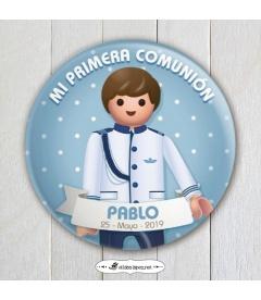"""CHAPA """"COMUNIÓN ALMIRANTE  PLAYMOBIL"""""""