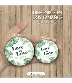 "CHAPAS PARA BODAS ""TROPICAL LOVE"""