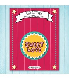 "CHAPAS PARA BODAS ""SWEET LOVE"""