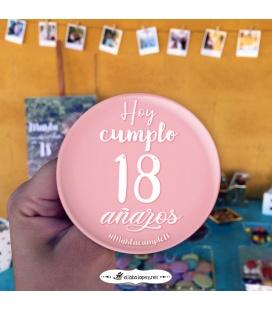 PACK 20 CHAPAS CUMPLEAÑOS FIESTUKI