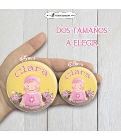 """CHAPA  """"BEBÉ FLORES"""" (niña)"""