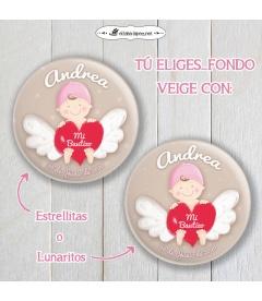 """CHAPA  """"BEBÉ ANGELITO"""" (niña)"""