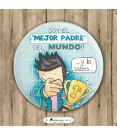 "CHAPA ""MEJOR PADRE DEL MUNDO"""