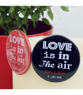 "CHAPAS PARA BODAS ""LOVE IS IN THE AIR"""