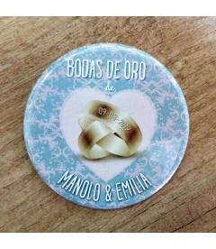 """CHAPAS BODAS DE ORO """"50 MÁS"""""""