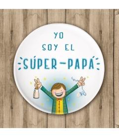 """CHAPA """"SOY EL PAPÁ"""" (bautizo)"""