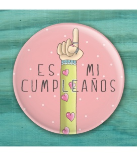 """CHAPA CUMPLEAÑOS """"MANO"""" (ella)"""
