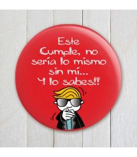 "CHAPA ""SIN MÍ"" (cumpleaños)"