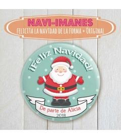 NAVI-IMÁN (chapa navidad de Papá Noel)