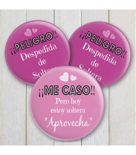 "CHAPAS DESPEDIDAS ""PELIGROOO"" CHICAS"