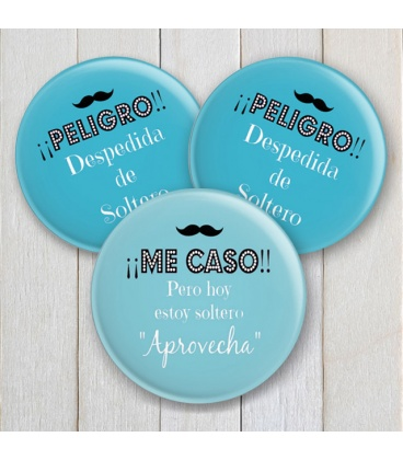 "CHAPAS DESPEDIDAS ""PELIGROOO"" CHICOS"