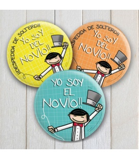 "CHAPAS DESPEDIDAS ""YO SOY DEL NOVIO"""