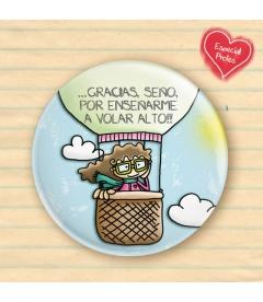 """CHAPA """"GRACIAS PROFES"""" (niña)"""