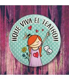 """CHAPA """"EL TEATRO"""" (chica)"""