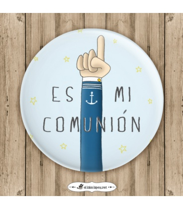 """CHAPA MI COMUNIÓN """"MANO"""" (él)"""
