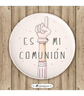 """CHAPA MI COMUNIÓN """"MANO"""" (ella)"""