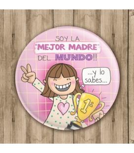 "CHAPA ""MEJOR MADRE DEL MUNDO"""