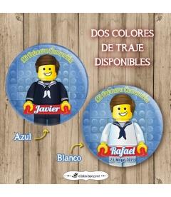 """CHAPA """"COMUNIÓN LEGO MARINERO"""""""