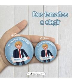 """CHAPA """"COMUNIÓN CHAQUETA  PLAYMOBIL"""""""