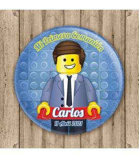"""CHAPA """"COMUNIÓN LEGO CHAQUETA"""""""