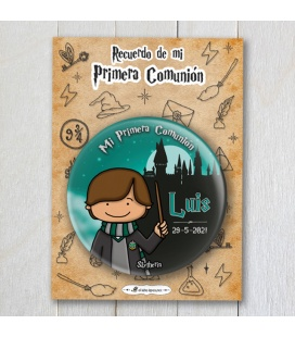 "CHAPA COMUNIÓN ""SLYTHERIN"" Harry Potter"