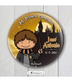 "CHAPA COMUNIÓN ""HUFFLEPUFF"" Harry Potter"