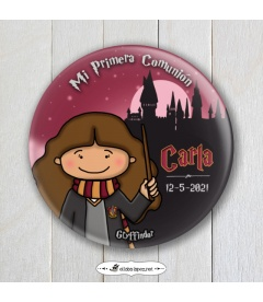 """CHAPA COMUNIÓN """"GRYFFINDOR"""" Harry Potter (niña)"""