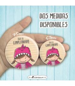 "CHAPA ""DINOSAURIO"" CUMPLEAÑERA"