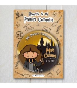 """CHAPA COMUNIÓN """"HUFFLEPUFF"""" Harry Potter (niña)"""