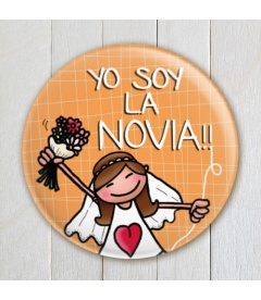 "CHAPA BODA ""YO SOY LA NOVIA""(colores)"