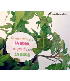 "PACK 50 CHAPAS PARA BODAS 59mm ""FRASES DIVERTIDAS 2"""