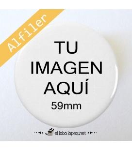 CHAPA PERSONALIZADA CON ALFILER DE 59mm